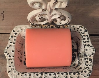 White Peach Hibiscus, Peach Soap, Georgia Peach, Soap for Bridal Shower, Southern Belle, Handcrafted Soap, Made in Georgia, Coral Soap