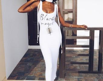 BLACK MAGIC bodycon midi dress