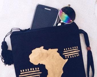 African black x gold wristlet