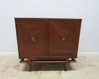 Vintage Mid Century Henredon Danish Modern Cabinet Server Console Chest A