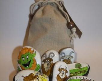 The Three Billy Goats Gruff- Story Stones: Educational story telling fun