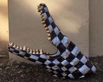 Checkered Alligator Head