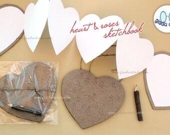 HEART & ROSES SKETCHBOOK-eco-friendly gift idea!