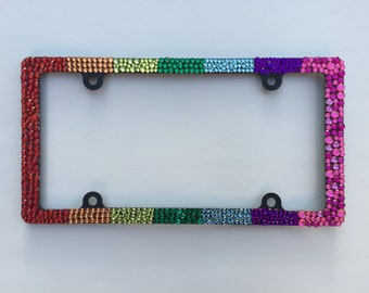 Multi-Color/Rainbow License Plate Frame