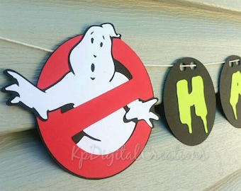 Ghostbusters party, Ghostbusters birthday, Ghostbusters, ghostbusters banner, birthday party banner, Name banner, slimer, ghost party, slime