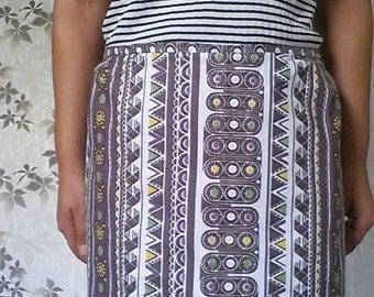 Vintage half apron, Retro apron, Cotton kitchen apron, Gift for mother