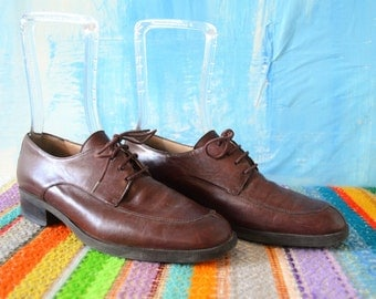 Women's ENZO ANGIOLINI Oxford 90s Shoes // Women's Size 8 Medium / Oxblood Leather Shoes / 90s 1990's / Women's Vintage Lace Up Oxford Flats
