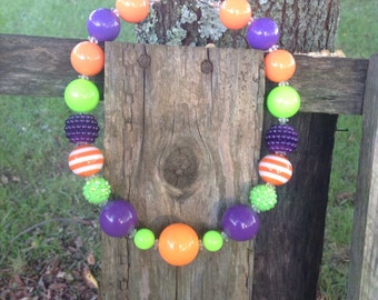Sale, Halloween, chunky necklace, bubble gum bead necklace, girls necklace, bubblegum necklace, fall necklace, kids necklace, halloween neck