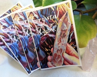 Crystal Magick, Book of Shadows Zine, Magickal Magazine for your spell book, Witchcraft Zine, Wicca, Wiccan free shipping