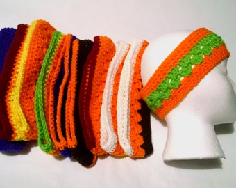 Headbands, Hair Accessories, Headbands & Turbans, fall accessories, Orange Headbands, Hippie, Halloween Headbands, size young teens