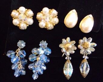 Lot of 4 Vintage Earrings