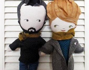Paire de poupées personnalisées d'après votre photo
