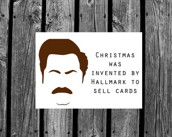 Ron Swanson Christmas Card