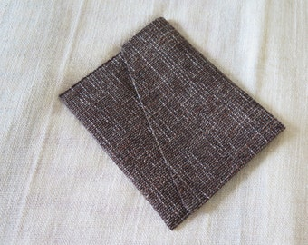 KATIA pouch in cotton-wool to wear under the arm - mottled brown tones