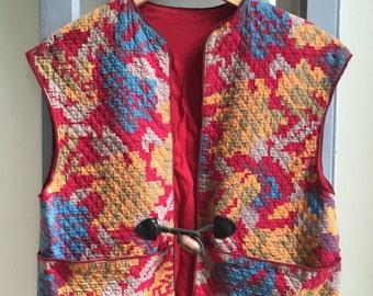 Quited Ethnic Boho Vest // Festival Vest // Tribal Best // Waistcoat