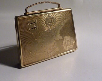Christmas gifts for her handbag shaped powder compact  CYPRUS REGIMENT MILITARY compact