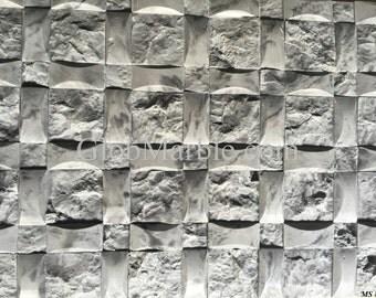 Concrete Mold . Concrete Stone Moulds. Mosaic Wall TIle