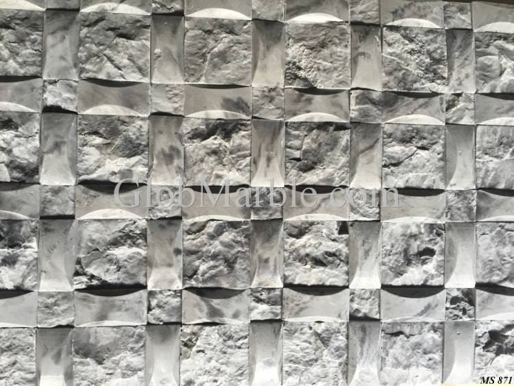 Mosaic Stone Cement : Concrete mold stone moulds mosaic wall by