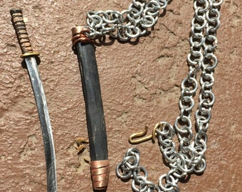 Real Steel Katana Necklace
