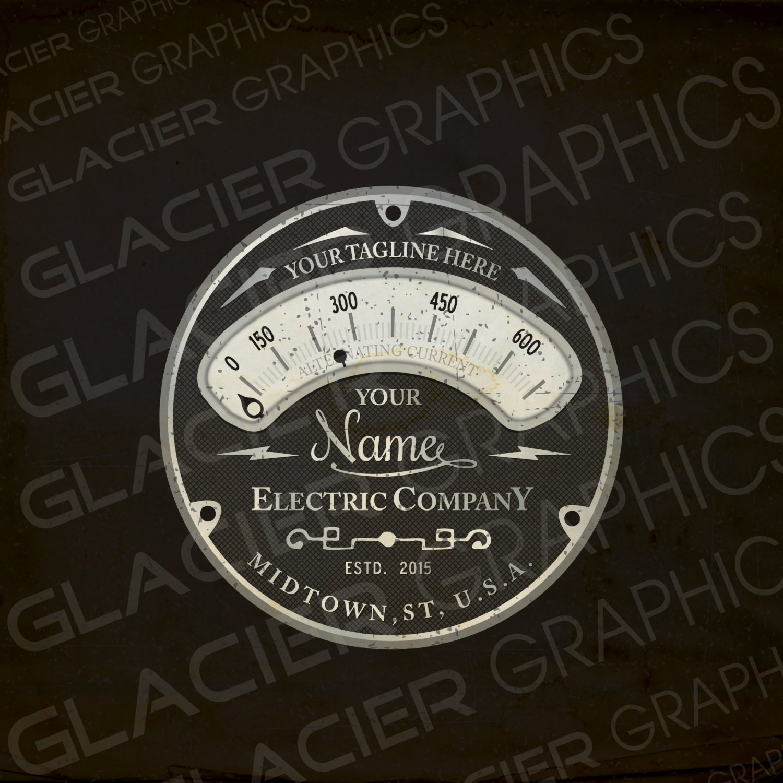 Custom Logo Vintage Electrician Logo Electrical Logo - Etsy