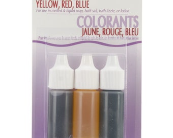 Soap Colors 0.75-Ounce, Red, Blue, Yellow, 3-Pack - Life of the Party