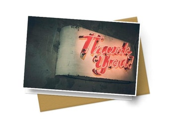 Neon Thank You Notes - Set of 10 With Envelopes