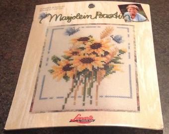 "Marjolein Bastin Lanarte Summer Bouquet 115610 Leisure Art Counted Cross Stitch Kit 28 Count Evenweave 3 1/4 x 5 1/4 "" New Sealed Nature Sun"