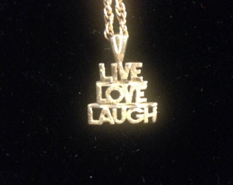 1970's Live, Love, Laugh Necklace