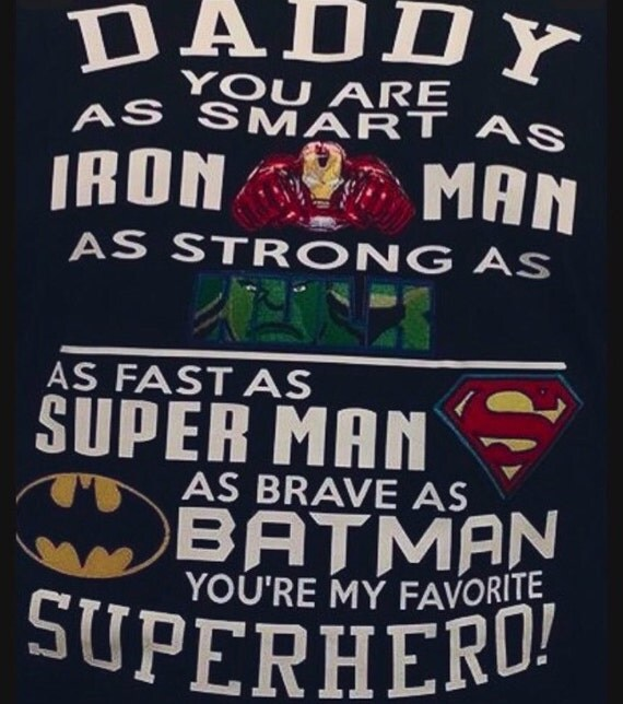 Usaprint Fathers Day Dad T Shirt My Dad My Hero Design T: Super Hero Daddy Tshirt Dad Tshirt Father's Day Gift
