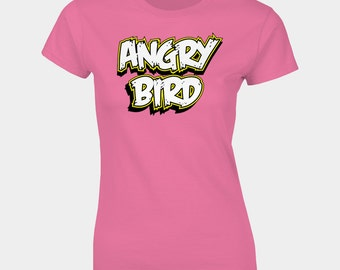 Angry Birds inspired ANGRY BIRD womans T-Shirt
