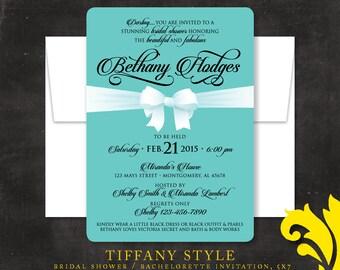 TIFFANY STYLE . bridal shower or bachelorette invitation