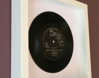 """Stevie Wonder """"Dont You Worry 'Bout A Thing"""" - Original Framed Vinyl"""