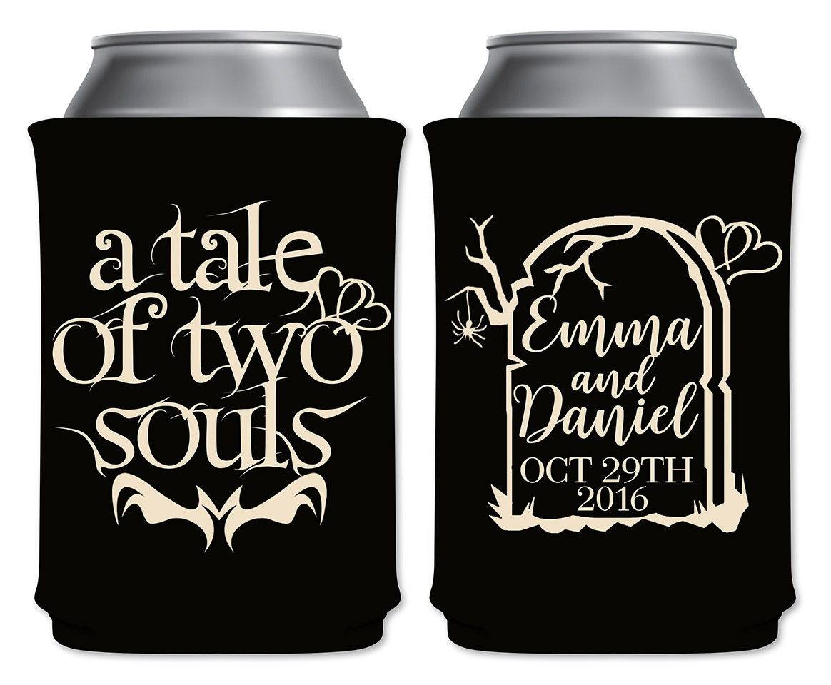 Halloween Wedding Gifts: Halloween Wedding Favors Personalized Can Coolers Foam
