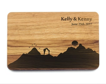 Wedding Gift Cutting Board Mountains. Wedding Gift for couple, Bridal Shower Gift, Personalized Wedding Gift, Wedding Gift Present