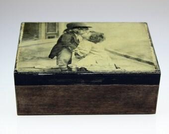 Decoupage Vintage Jewellery Box