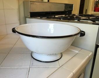 Vintage enamel kitchen Colander