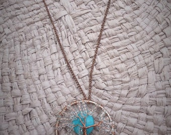 """Copper & Clear """"Tree of Life"""" Necklace"""