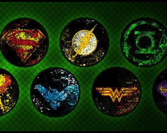 Splatter DC Comics - Button Set