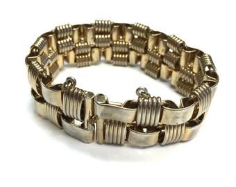 Bergere Woven Gold Bracelet 50s