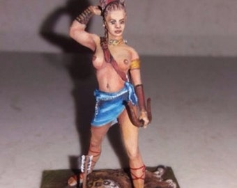 Goddess Diana of hunt ,hand made and hand painted,toy lead soldier,detailed