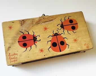 Vintage Enid Collins Lucky Lady Bug Box Purse