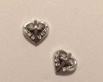 Rhinestone Cross Stud Earrings - O39