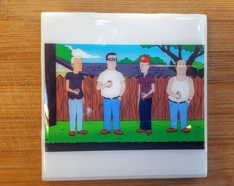 Single Tile Drink Coaster King of the Hill Hank Hill Propane and Propane Accessories
