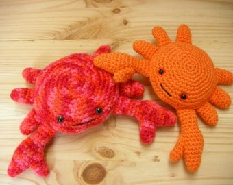 Amigurumi Crab, Crochet Crab, Amigurumi Softie, crochet amigurumi plush, crochet animal toy, amigurumi animal -Ready to ship