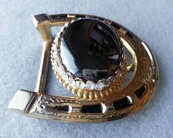 Western belt buckle, mens belt buckle, Hematite, Bling, Swarovski crystals, Healing gemstone, Free shipping