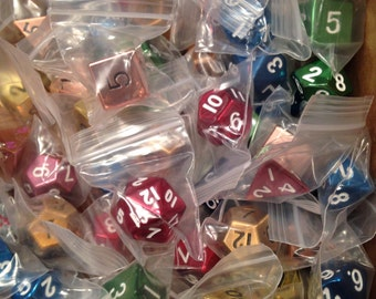 Factory Second Pound of Metal Dice- Both Plated and Painted Metal Dice