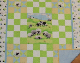 Loveable Lamb Baby Quilt