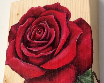 Painted rose with a personal message