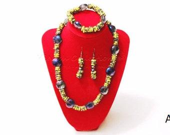 Handmade Glass beaded jewelry set