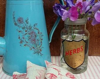 Linen Fabric Lavender Sachets /Lavender Bags. Set of 3.